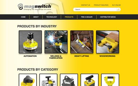 Screenshot of Products Page magswitch.com.au - Products - Magswitch - captured Oct. 4, 2014