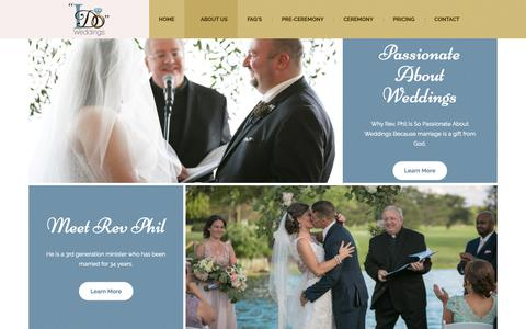 Screenshot of About Page idoweddings.net - About Us   I Do Weddings Ltd   Chicago Wedding Officiant - captured Oct. 19, 2018
