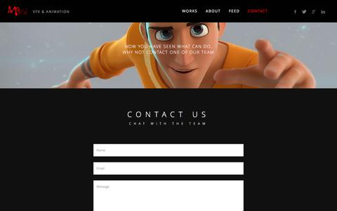 Screenshot of Contact Page m9fx.com - .:: M9FX Visual Effects & Animation ::. - captured Feb. 3, 2016