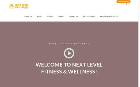 Screenshot of About Page nlfhealth.com - About Us | Next Level Fitness - captured Feb. 14, 2016