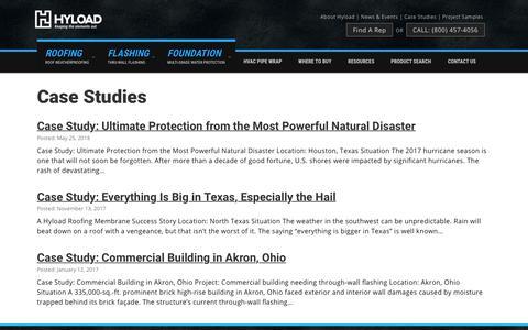 Screenshot of Case Studies Page hyload.com - Case Studies - captured Sept. 27, 2018