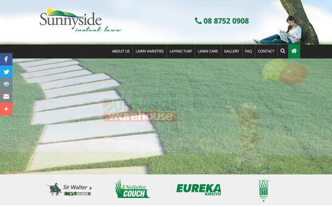 Screenshot of FAQ Page sunnysideinstantlawn.com.au - FAQs   Sunnyside Instant Lawn   Install Turf - captured Nov. 10, 2017