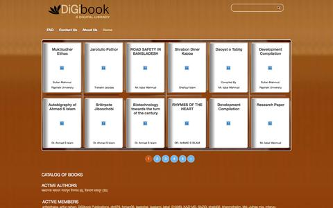 Screenshot of Home Page digibook.com.bd - DiGibook Bangladesh - captured Oct. 5, 2014