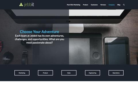 Screenshot of Jobs Page jebbit.com - Careers | Jebbit - captured Nov. 18, 2015