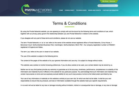 Screenshot of Terms Page pivotalnetworks.co.uk - Terms & Conditions | Pivotal Networks - captured Sept. 28, 2018