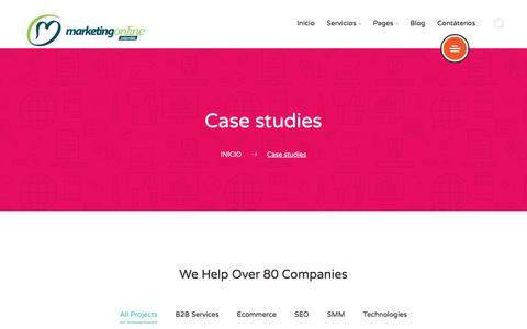 Screenshot of Case Studies Page marketingonlinecolombia.com - Case studies – Marketing Online Colombia - captured June 10, 2017