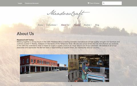 Screenshot of About Page meadowcraft.com - About Us � meadowcraft2016 - captured Jan. 9, 2016