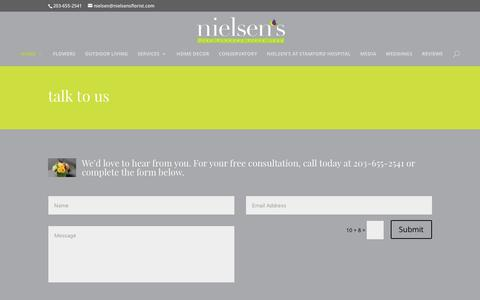 Screenshot of Contact Page nielsensflorist.com - Contact Us - Nielsen - captured June 13, 2017