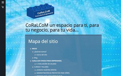 Screenshot of Site Map Page coralcom.com.mx - Mapa del sitio - CoRaLCoM Consultoría Empresarial-Heriberto Álvarez - captured Aug. 7, 2017