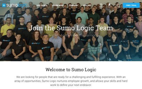 Screenshot of Jobs Page sumologic.com - Join the Sumo Logic Team - captured Dec. 3, 2015