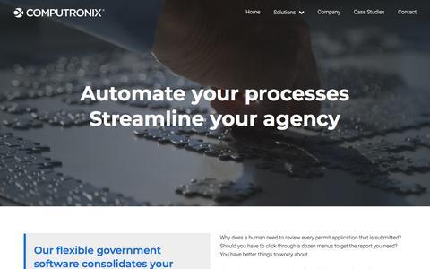 Screenshot of Home Page computronix.com - Computronix - captured July 20, 2018