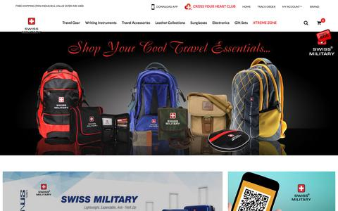 Screenshot of Home Page swissmilitaryindia.com - SwissMilitary | Buy Travel Gear, Travel Accessories, Travel Backpacks & Tools Online by Swiss Military - captured Dec. 22, 2016