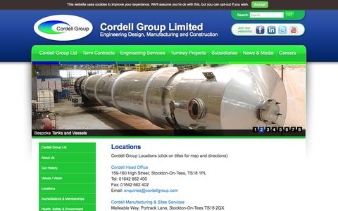 Screenshot of Locations Page cordellgroup.com - Locations - Cordell Group LimitedCordell Group Limited - captured Oct. 3, 2014