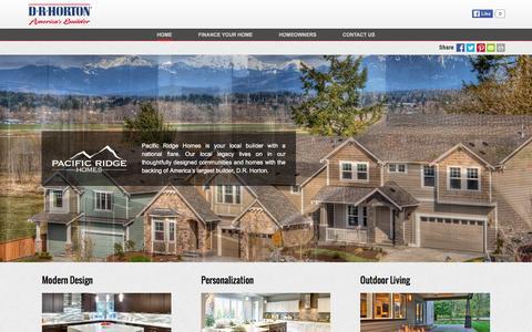 Screenshot of drhorton.com - Pacific Ridge Homes | Modern Design - captured March 19, 2016
