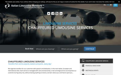 Screenshot of Services Page italianlimousinenetwork.com - Chauffeured limousine services  | Italian Limousine Network - captured Nov. 26, 2016