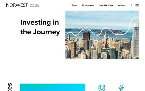 Screenshot of Services Page nvp.com - How We Help - Norwest Venture Partners - captured Sept. 20, 2019