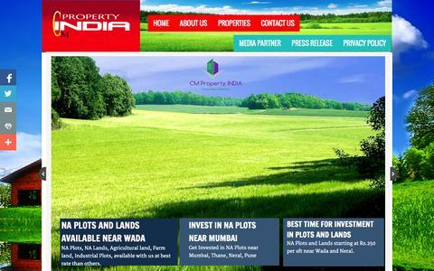 Screenshot of Home Page cmpropertyindia.com - India Property - India Real Estate - Mumbai Property - Wada Property - captured Sept. 30, 2014