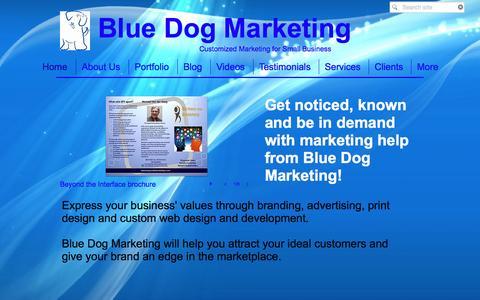 Screenshot of Home Page bluedogmktg.com - Blue Dog Marketing - captured Feb. 7, 2016