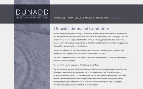 Screenshot of Terms Page dunadd.org - Dunadd - Asset Management LTD :: Terms of use - captured Oct. 13, 2017
