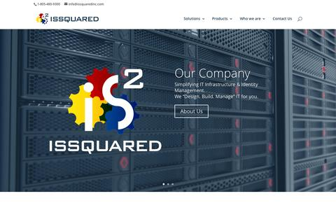 Screenshot of Home Page issquaredinc.com - ISSQUARED Web Site | Complexity Simplified - captured Nov. 5, 2015