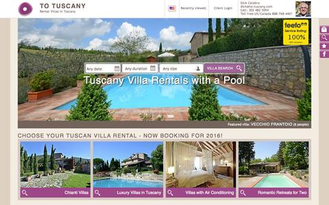 Screenshot of Home Page to-tuscany.com - The best rental Villas in Tuscany | To Tuscany - captured Oct. 19, 2015