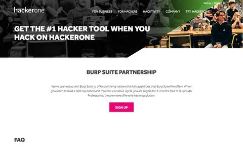 Burp Suite Partnership | HackerOne