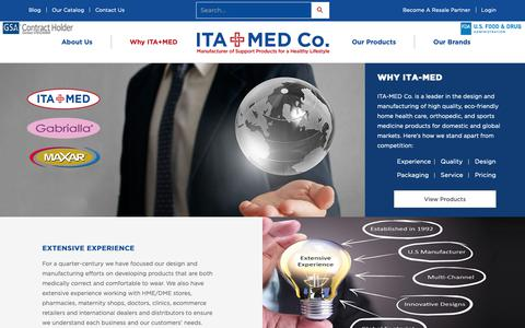 Screenshot of Pricing Page itamed.com - Why ITA+MED - captured Dec. 17, 2018