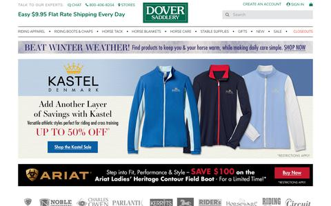 Screenshot of Home Page doversaddlery.com - Dover Saddlery - Quality English Horse Tack & Horse Supplies - captured Jan. 20, 2018