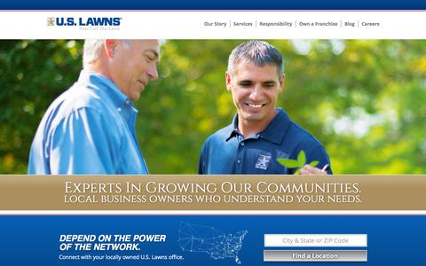 Screenshot of Home Page uslawns.com - Welcome - U.S. Lawns - captured Feb. 3, 2016