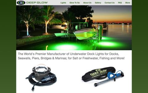 Screenshot of Home Page deepglow.com - Deep Glow - captured Oct. 5, 2014