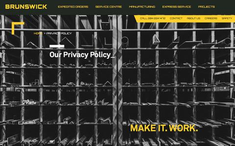 Screenshot of Privacy Page brunswicksteel.com - Privacy Policy - Brunswick Steel - captured Aug. 4, 2018