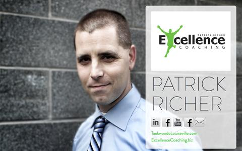 Screenshot of Home Page patrickricher.com - PATRICK RICHER - captured Oct. 2, 2014