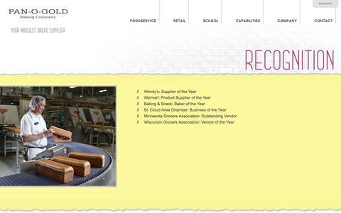 Screenshot of Press Page panogold.com - Pan-O-Gold - News - captured July 13, 2017