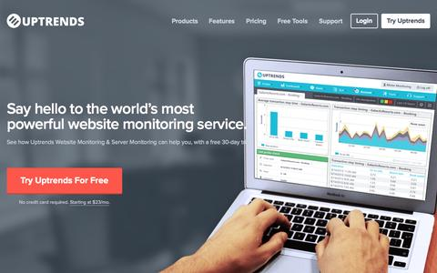 Uptrends - Website Monitoring and Server Monitoring
