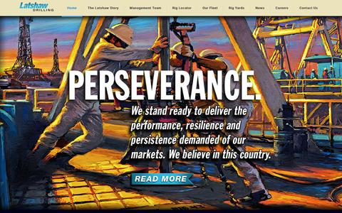Screenshot of Home Page latshawdrilling.com - Latshaw Drilling - captured Dec. 12, 2015