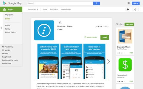 Screenshot of Android App Page google.com - Tilt - Android Apps on Google Play - captured Nov. 10, 2015