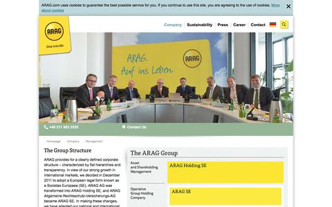 Screenshot of Team Page arag.com - Management - captured July 23, 2016