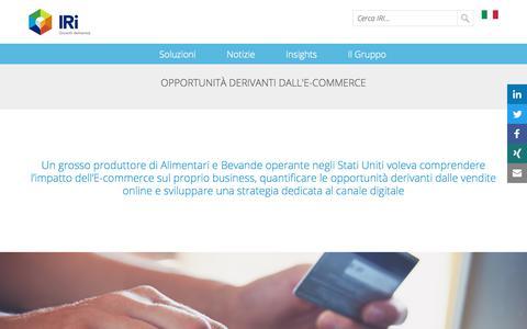 Screenshot of Case Studies Page iriworldwide.com - Opportunità derivanti dall'E-Commerce- IRI - captured Jan. 6, 2020