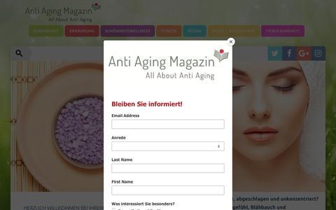 Screenshot of Home Page anti-aging-magazin.de - Anti Aging Magazin: Fit, gesund und aktiv altern - Anti Aging Magazin - captured June 21, 2018