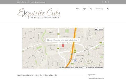 Screenshot of Contact Page exquisitecuts.co.za - Exquisite Cuts   –  Contact Page - captured Sept. 30, 2014