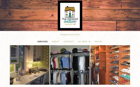 Screenshot of Services Page theintrepiddeclutterer.com - Home Organizing — adriel the organizer - captured Nov. 2, 2014