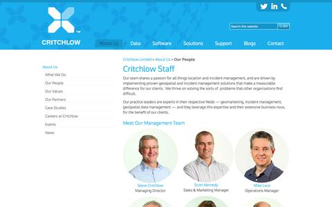 Screenshot of Team Page critchlow.co.nz - Critchlow staff members - captured Sept. 23, 2016