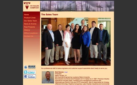 Screenshot of Team Page hvsales.com - HV Sales Company | Sales Team - captured Oct. 16, 2016