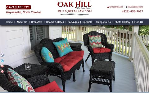 Screenshot of Contact Page Maps & Directions Page oakhillonlovelane.com - Bed and Breakfast in NC Mountains | Bed and Breakfast Blue Ridge Mountains | Oak Hill B&B - captured Dec. 4, 2018