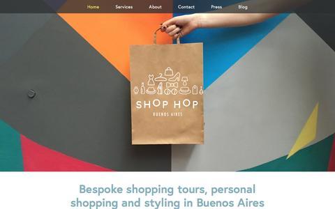 Screenshot of Home Page shop-buenosaires.com - Shop Hop Buenos Aires - captured Feb. 12, 2018