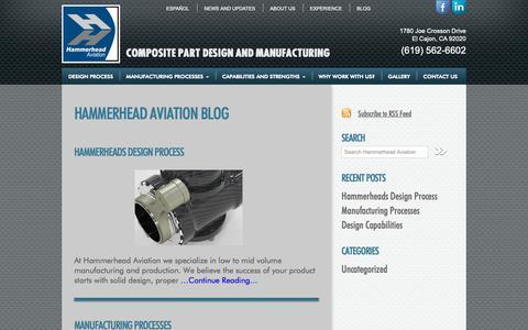 Screenshot of Blog hammerheadaviation.com - Hammerhead Aviation Blog - Hammerhead Aviation - captured Nov. 4, 2018