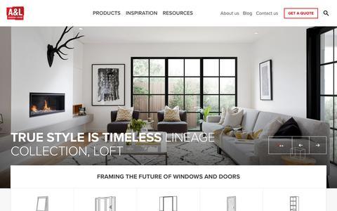 Screenshot of Home Page alwindows.com.au - A&L - Windows and Doors Manufacturer in Australia - captured Sept. 30, 2018