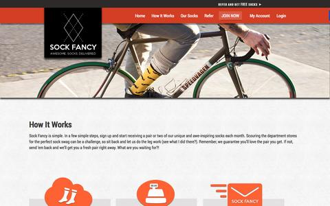 Screenshot of FAQ Page sockfancy.com - How It Works - Sock Fancy - captured Oct. 9, 2014