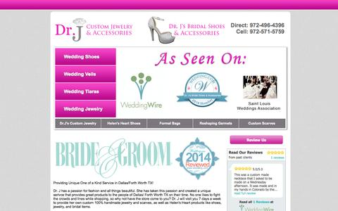 Screenshot of drbej.co - Custom Jewelry Garland TX | Wedding Services Dallas/Fort Worth | Shoes for Sale | Handbags - captured Oct. 12, 2014