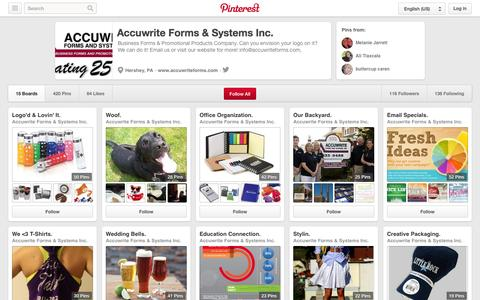 Screenshot of Pinterest Page pinterest.com - Accuwrite Forms & Systems Inc. on Pinterest - captured Oct. 23, 2014